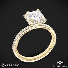 18k Yellow Gold Verragio Tradition TR120HP Diamond Princess Halo Engagement Ring | Whiteflash