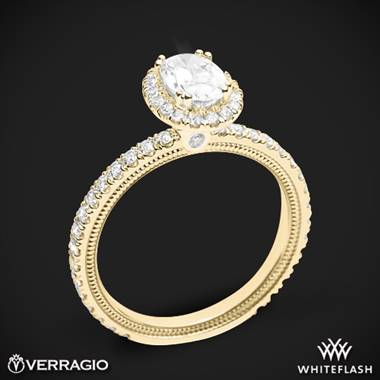 18k Yellow Gold Verragio Tradition TR150HOV Diamond Oval Halo Engagement Ring