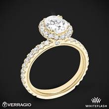 18k Yellow Gold Verragio Tradition TR180HOV Diamond Oval Halo Engagement Ring | Whiteflash