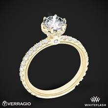 18k Yellow Gold Verragio Tradition TR180TR Diamond 6 Prong Tiara Engagement Ring | Whiteflash
