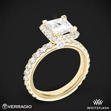 18k Yellow Gold Verragio Tradition TR210HP Diamond Princess Halo Engagement Ring | Whiteflash