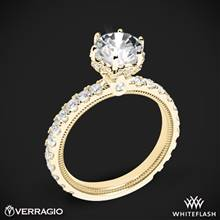 18k Yellow Gold Verragio Tradition TR210TR Diamond 6 Prong Tiara Engagement Ring | Whiteflash