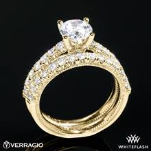 18k Yellow Gold Verragio V-951 Renaissance Diamond Wedding Set | Whiteflash