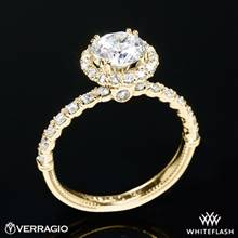 18k Yellow Gold Verragio V-954-R1.8 Renaissance Diamond Halo Engagement Ring | Whiteflash