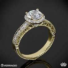 18k Yellow Gold Verragio Venetian Centro AFN-5002R-1 Diamond Engagement Ring | Whiteflash
