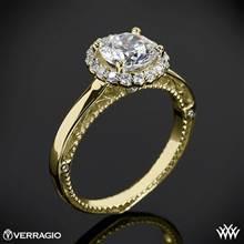 18k Yellow Gold Verragio Venetian Centro AFN-5019R-1 Halo Engagement Ring   Whiteflash