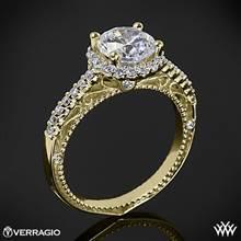 18k Yellow Gold Verragio Venetian Centro AFN-5022R-1 Halo Diamond Engagement Ring | Whiteflash