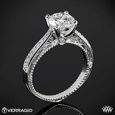 18k Yellow Gold Verragio Venetian Centro AFN-5047RD-1 Diamond Engagement Ring