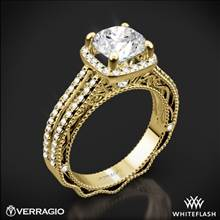 18k Yellow Gold Verragio Venetian Lace AFN-5007CU-4 Diamond Engagement Ring | Whiteflash