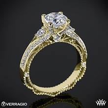18k Yellow Gold Verragio Venetian Lace AFN-5021R-4 Diamond Engagement Ring | Whiteflash