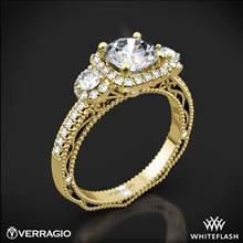 18k Yellow Gold Verragio Venetian Lace AFN-5025CU-4 Three Stone Engagement Ring | Whiteflash