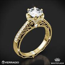 18k Yellow Gold Verragio Venetian Lace AFN-5052-4 Diamond Engagement Ring | Whiteflash