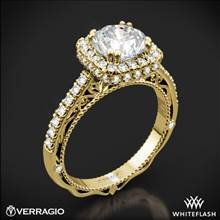 18k Yellow Gold Verragio Venetian Lace AFN-5053CU-4 Halo Diamond Engagement Ring | Whiteflash