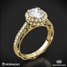 18k Yellow Gold Verragio Venetian Lace AFN-5053R-4 Halo Diamond Engagement Ring | Whiteflash