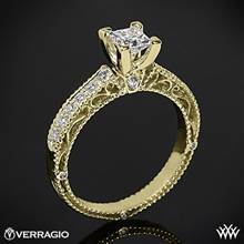 18k Yellow Gold Verragio Venetian Lido AFN-5001P-2 Diamond Engagement Ring for Princess Cut Diamonds | Whiteflash