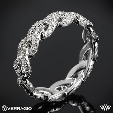 18k Yellow Gold Verragio WED-4023 Eternal Braid Diamond Wedding Ring