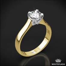 18k Yellow Gold W-Prong Solitaire Engagement Ring with White Gold Head | Whiteflash