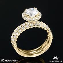 18k Yellow Verragio V-954 Renaissance Diamond Wedding Set | Whiteflash