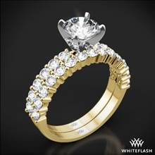 18k Yelow Gold Diamonds for an Eternity Half Diamond Wedding Set | Whiteflash