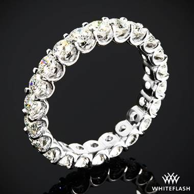 1.90ctw 18k White Gold Annette's U-Prong Eternity Diamond Wedding Ring (Size 4)