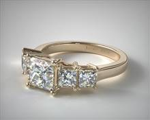 1ctw Four Stone Princess Diamond Engagement Ring in 2mm 18K Yellow Gold (Setting Price) | James Allen