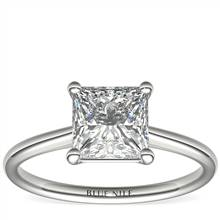 2 Carat Astor Princess-Cut Petite Solitaire in Platinum (H/SI2) Ready-to-Ship | Blue Nile