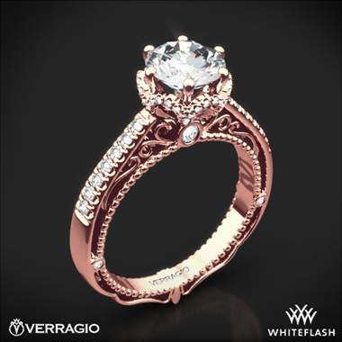 20k Rose Gold Verragio Afn 5052 4 6 Prong Crown Diamond