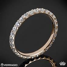 20k Rose Gold Verragio ENG-0350W Full Eternity Diamond Wedding Ring | Whiteflash
