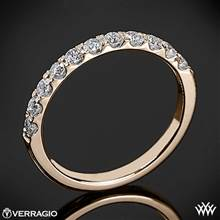 20k Rose Gold Verragio ENG-0352W Prong Set Diamond Wedding Ring | Whiteflash