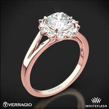 20k Rose Gold Verragio ENG-0356 Split Shank Halo Solitaire Engagement Ring | Whiteflash