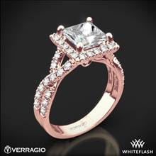 20k Rose Gold Verragio ENG-0379 Square Halo Diamond Engagement Ring | Whiteflash