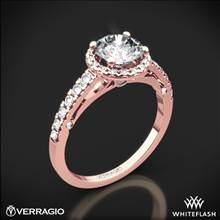 20k Rose Gold Verragio ENG-0386 Bead-Set Halo Diamond Engagement Ring | Whiteflash