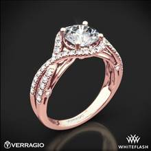 20k Rose Gold Verragio ENG-0405 4 Prong Bypass Diamond Engagement Ring | Whiteflash