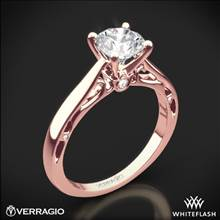20k Rose Gold Verragio ENG-0409R Cathedral Solitaire Engagement Ring | Whiteflash