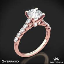 20k Rose Gold Verragio ENG-0410SR Shared-Prong Cathedral Diamond Engagement Ring | Whiteflash