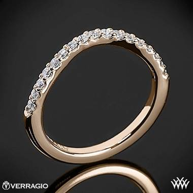 20k Rose Gold Verragio INS-7010W Curved Shared-Prong Diamond Wedding Ring