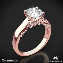 20k Rose Gold Verragio INS-7022 4 Prong Knife-Edge Solitaire Engagement Ring | Whiteflash