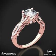 20k Rose Gold Verragio INS-7050R 4 Prong Twisted Shank Diamond Engagement Ring | Whiteflash