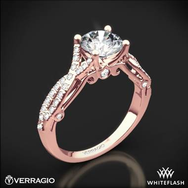 20k Rose Gold Verragio INS-7050R 4 Prong Twisted Shank Diamond Engagement Ring