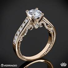 20k Rose Gold Verragio INS-7064R Beaded Channel-Set Diamond Engagement Ring | Whiteflash
