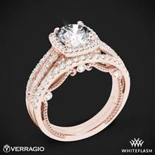 20k Rose Gold Verragio INS-7069 Diamond Wedding Set | Whiteflash