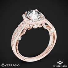 20k Rose Gold Verragio INS-7069CU Diamond Halo Engagement Ring | Whiteflash