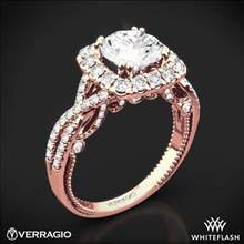 20k Rose Gold Verragio Insignia INS-7086CU Halo Diamond Engagement Ring | Whiteflash