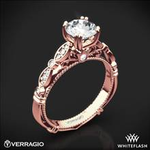 20k Rose Gold Verragio Parisian D-100 Diamond Engagement Ring | Whiteflash
