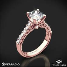 20k Rose Gold Verragio Renaissance 901R7 Diamond Engagement Ring | Whiteflash