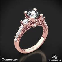 20k Rose Gold Verragio Renaissance 904P5 3-Stone Diamond Engagement Ring for Princess | Whiteflash