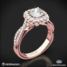 20k Rose Gold Verragio Renaissance 918CU Halo Diamond Engagement Ring | Whiteflash