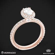 20k Rose Gold Verragio Tradition TR150HOV Diamond Oval Halo Engagement Ring | Whiteflash