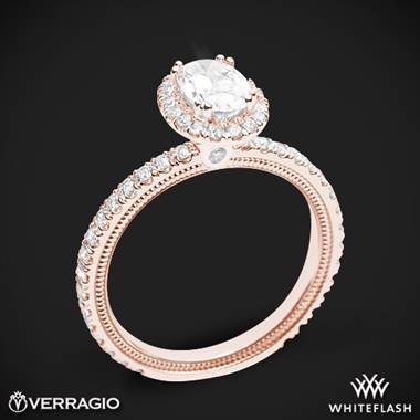 20k Rose Gold Verragio Tradition TR150HOV Diamond Oval Halo Engagement Ring