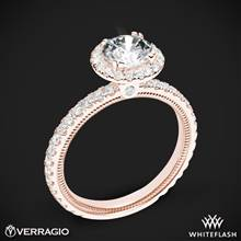 20k Rose Gold Verragio Tradition TR150HR Diamond Round Halo Engagement Ring | Whiteflash